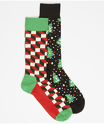 Happy Socks Men's Holiday Socks 2-Pack Gift Set