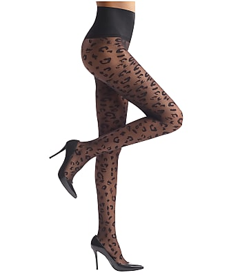 Commando Leopard Sheer Tights