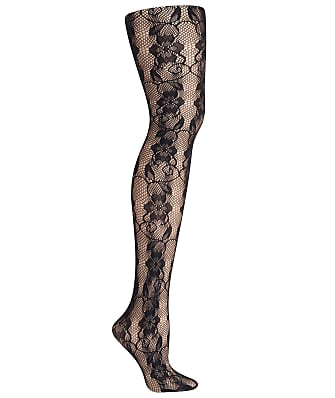 Hanes Faux Lace Fishnet Tights