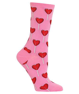 Hot Sox Heart Lollipop Crew Socks