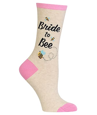 Hot Sox Bride To Bee Crew Socks