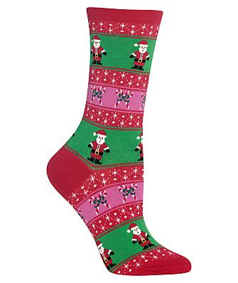 Hot Sox Santa Fairisle Crew Socks
