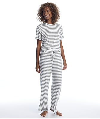 Honeydew Intimates Striped All American Knit Pajama Set
