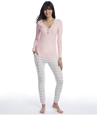 Honeydew Intimates By The Fire Fairisle Knit Pajama Set