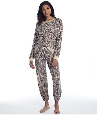 Honeydew Intimates Star Seeker Leopard Knit Pajama Set