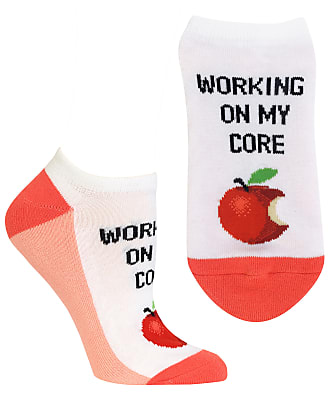 Hot Sox Working On My Core No-Show Socks