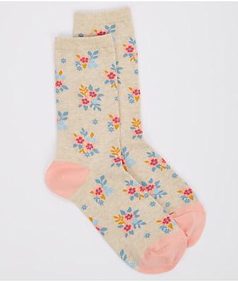 Hot Sox Ditzy Floral Crew Socks