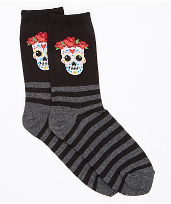 Hot Sox Sugar Skull Crew Socks