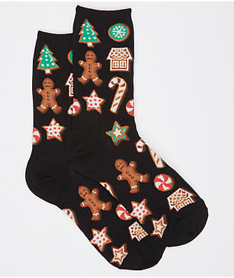 Hot Sox Christmas Cookies Crew Socks