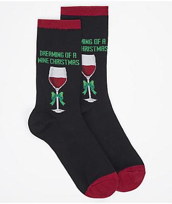 Hot Sox Dreaming Of A Wine X-Mas Crew Socks