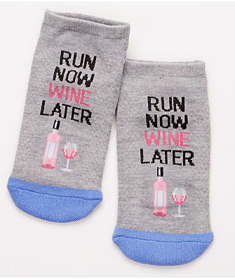 Hot Sox ''Run Now Wine Later'' Ankle Socks