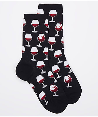 Hot Sox Wine Glass Crew Socks