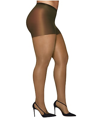 Hanes Plus Size Curves Silky Sheer Control Top Pantyhose