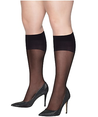 Hanes Plus Size Curves Sheer Knee Highs