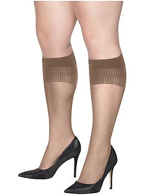 Hanes Plus Size Curves Sheer Knee Highs