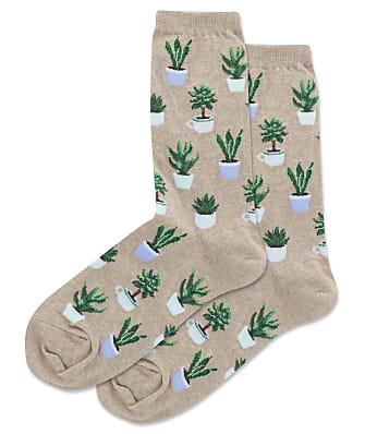 Hot Sox Potted Succulents Crew Socks