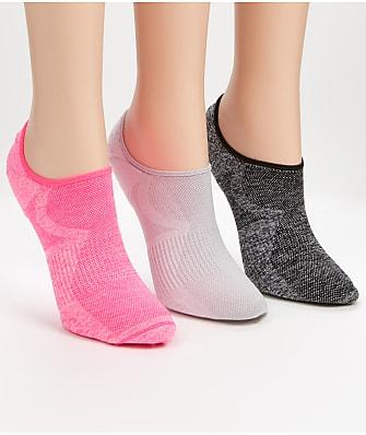 HUE Air Sleek Cushion No Show Socks 3-Pack