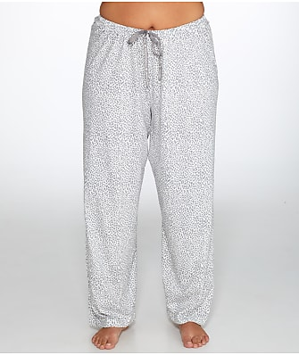HUE Plus Size Cheetah Knit Pajama Pants