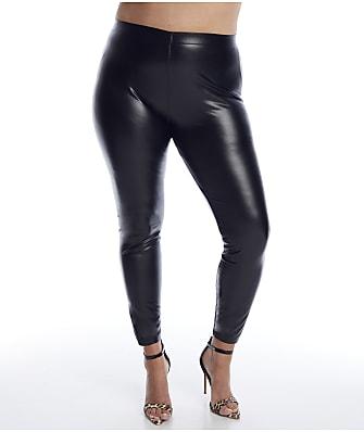 HUE Plus Size Leatherette Leggings