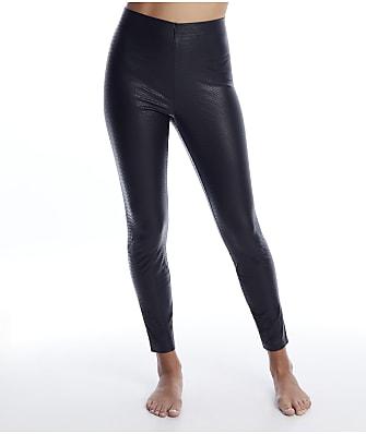 HUE Croco Leatherette High-Waist Leggings