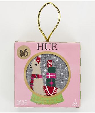 HUE Holiday Crew Socks Snow Globe Box Set
