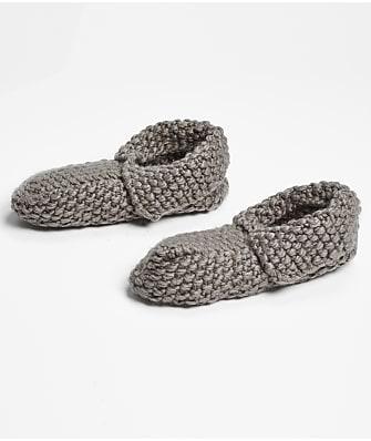 HUE Fold-Over Cozy Slipper Socks