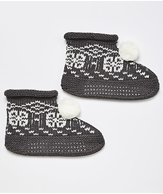 HUE Fairisle Slipper Socks