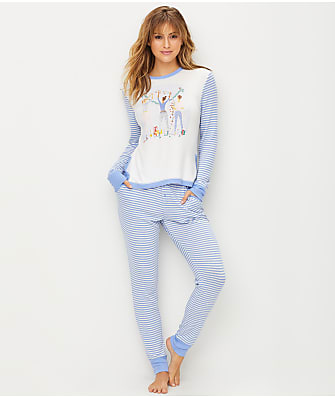 Jane & Bleecker Knit Sweater Pajama Set