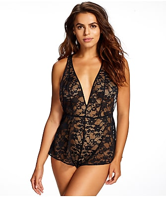 Jezebel Foxy Stretch Lace Romper