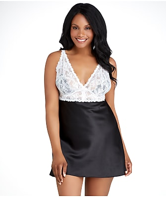 Jezebel Plus Size Goddess Wireless Satin Chemise