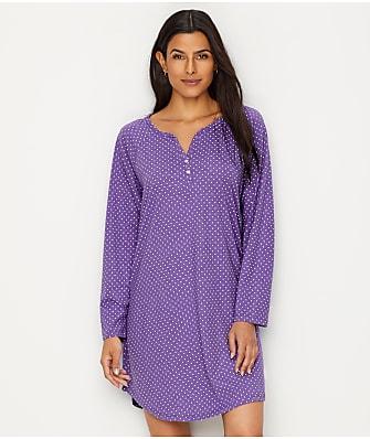 Karen Neuburger Henley Knit Night Gown
