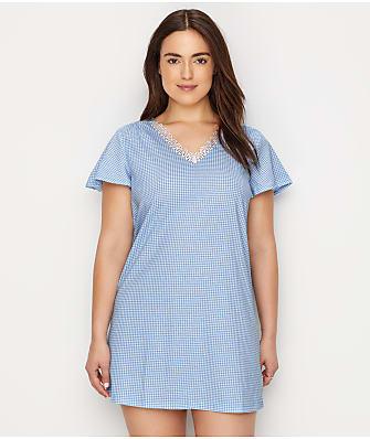 Karen Neuburger Gingham Knit Sleep Shirt