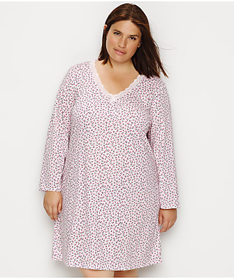 Karen Neuburger Plus Size Floral Knit Sleep Shirt
