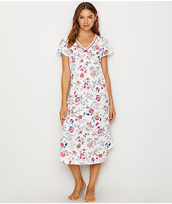Karen Neuburger Floral Knit Nightgown