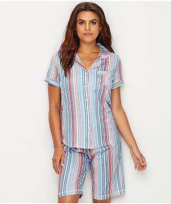 Karen Neuburger Striped Knit Pajama Set