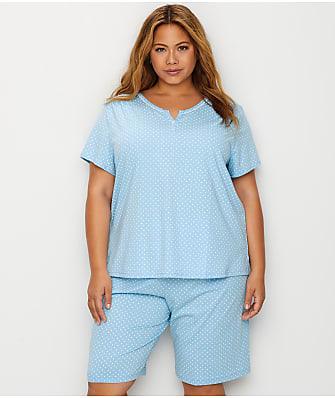 Karen Neuburger Plus Size Bermuda Knit Pajama Set