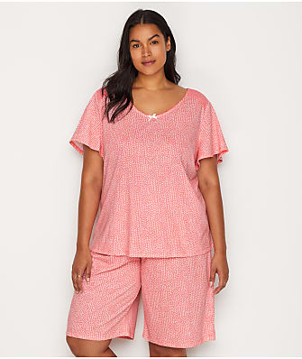 Karen Neuburger Plus Size Knit Bermuda Pajama Set