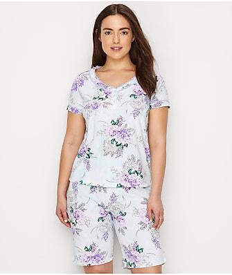 Karen Neuburger Floral Knit Bermuda Pajama Set