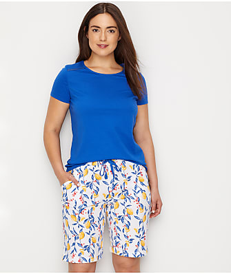 Karen Neuburger Summer Lemon Knit Bermuda Pajama Set