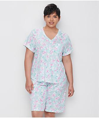 Karen Neuburger Plus Size Sage Floral Bermuda Pajama Set