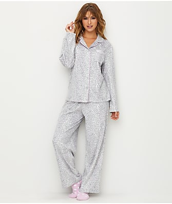 Karen Neuburger Leopard Print Fleece Pajama Set