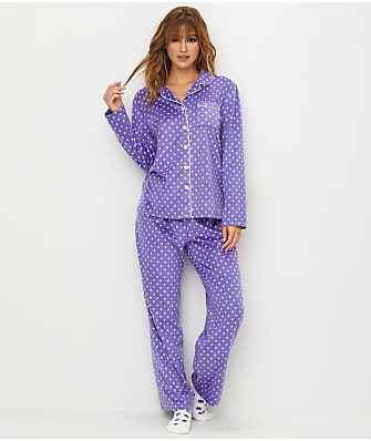 Karen Neuburger Polka Dot Fleece Pajama Set