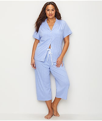 Karen Neuburger Plus Size Dot Knit Capri Pajama Set