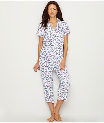Karen Neuburger Knit Girlfriend Capri Pajama Set