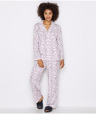 Karen Neuburger Girlfriend Knit Cat Pajama Set