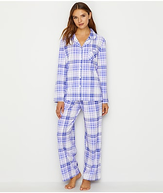 Karen Neuburger Girlfriend Knit Plaid Pajama Set