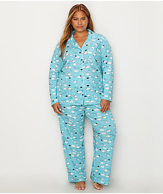 Karen Neuburger Plus Size Girlfriend Knit Sheep Pajama Set