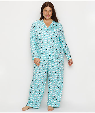 Karen Neuburger Plus Size Girlfriend Knit Sheep Pajama Set