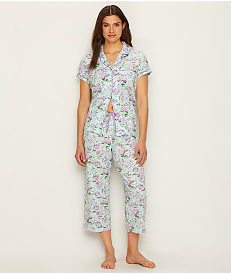 ceb461d740 Karen Neuburger Girlfriend Knit Cropped Pajama Set. MORE+