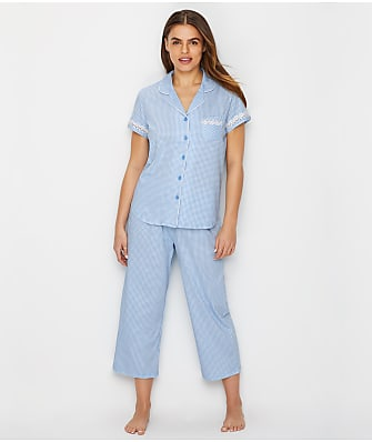 Karen Neuburger Girlfriend Knit Cropped Pajama Set